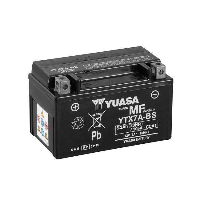 Yuasa YTX7A-BS 12V 7Ah Onderhoudsvrije Motor Accu