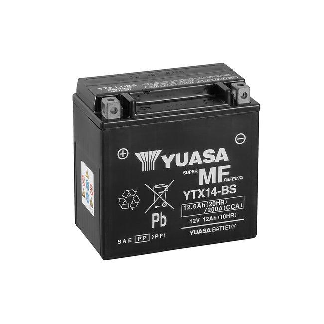 Yuasa YTX14-BS 12V 12Ah Onderhoudsvrije Motor Accu
