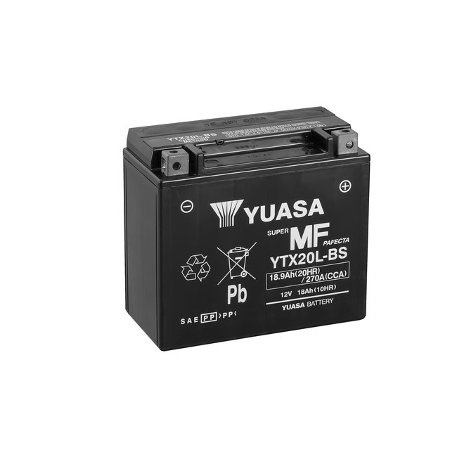 Yuasa YTX20L-BS 12V 18Ah Onderhoudsvrije Motor Accu