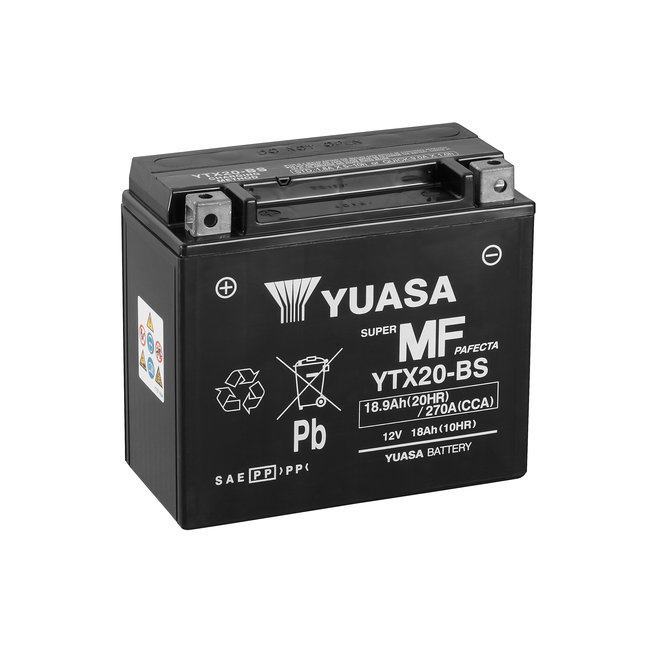Yuasa YTX20-BS 12V 18Ah Onderhoudsvrije Motor Accu