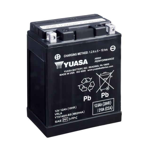 Yuasa YTX14AH-BS 12V 12Ah High Performance Onderhoudsvrije Motor Accu