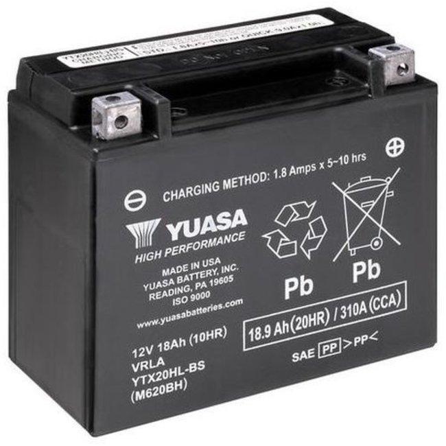 Yuasa YTX20HL-BS 12V 18Ah High Performance Onderhoudsvrije Motor Accu