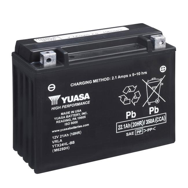 Yuasa YTX24HL-BS 12V 21Ah High Performance Onderhoudsvrije Motor Accu