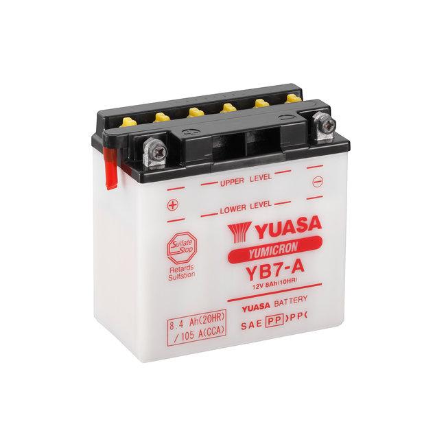 Yuasa YB7-A 12V 8Ah Yumicron Motor Accu