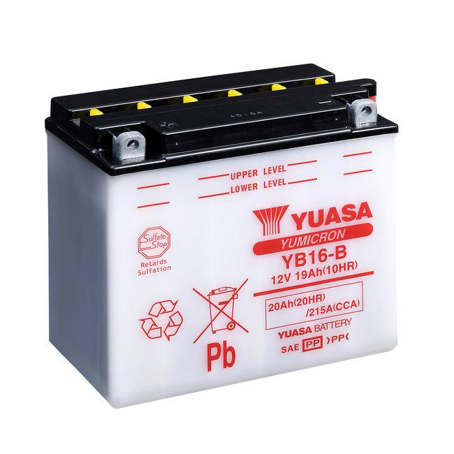 Yuasa YB16-B 12V 19Ah Yumicron Motor Accu