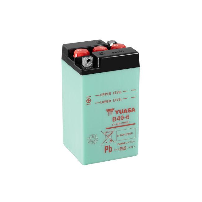 Yuasa B49-6 6V 8Ah Conventionele Motor Accu