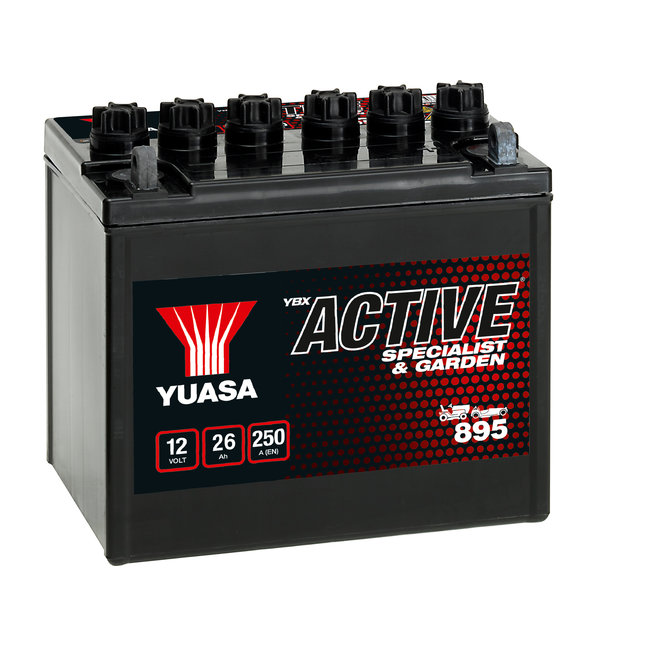 Yuasa 895 12V 26Ah YBX Active Specialist & Garden accu