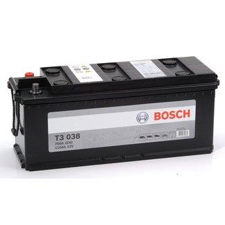 Bosch T3 038 12V 110Ah Heavy Duty Start Accu