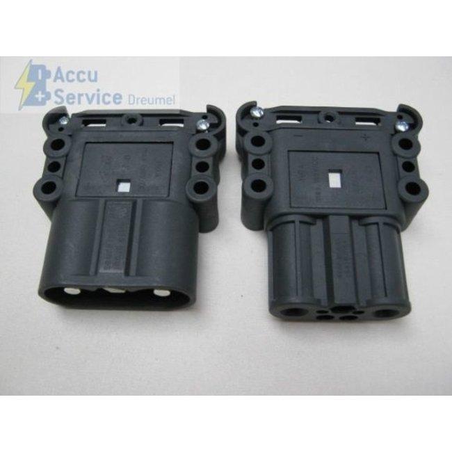 REMA 95043-39 Euro 160 A Stekker - 50mm² - male (lader/truck) met hulp-pilotcontact