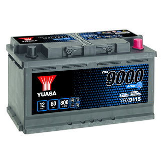 Yuasa YBX9115 12V 80Ah 800A Start Stop Plus AGM Accu