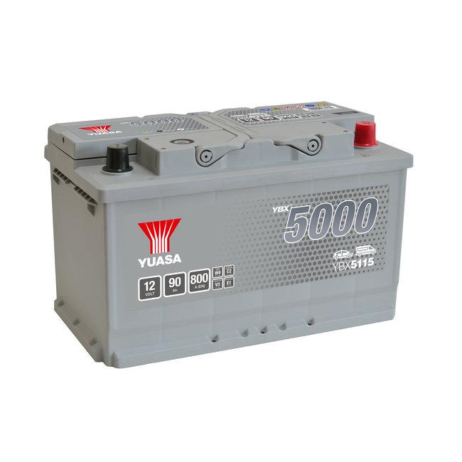 Yuasa YBX5115 12V 90Ah 800A Silver High Performance Accu