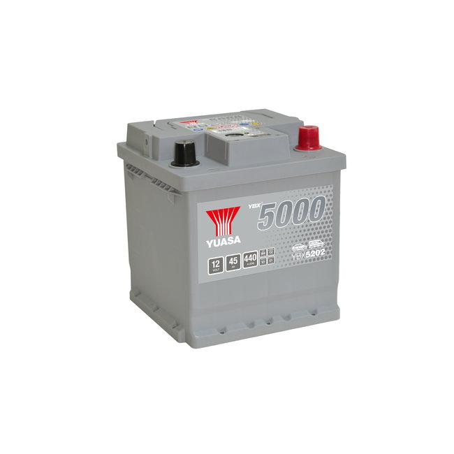 Yuasa YBX5202 12V 45Ah 440A Silver High Performance Accu