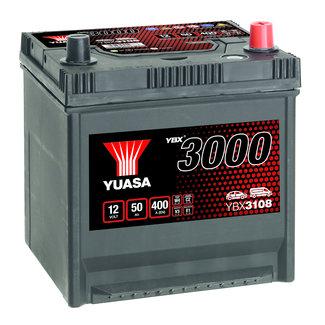 Yuasa YBX3108 12V 50Ah 400A SMF Accu