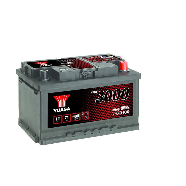 Yuasa YBX3100 12V 71Ah 680A SMF Accu