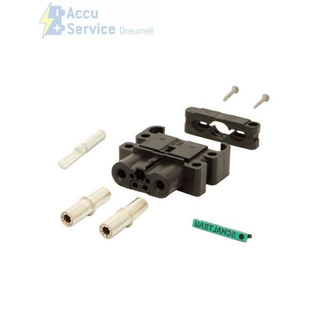 Schaltbau LV80/120-N-S25-0-0-L0-H1 80A Stekker 25 mm² Female + handvat