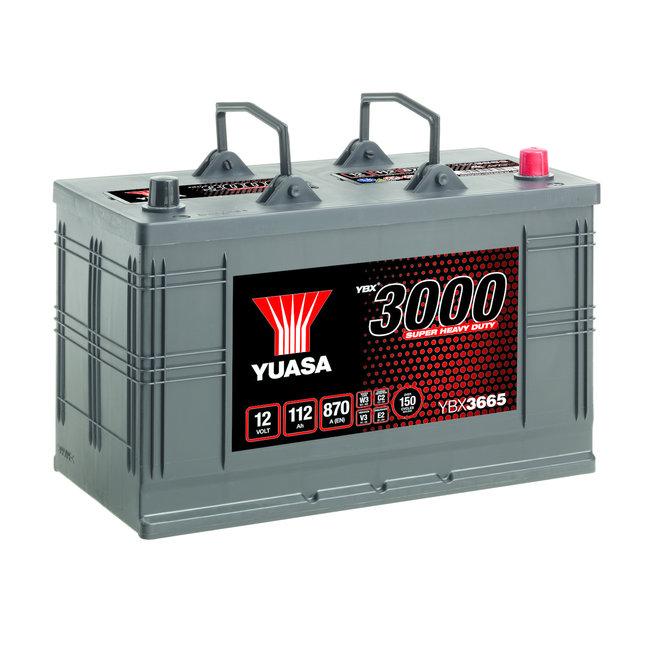 Yuasa YBX3665 12V 112Ah 870A SHD Accu