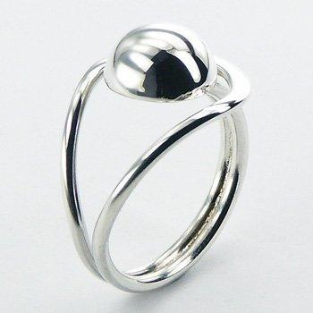 Aparte zilveren ring