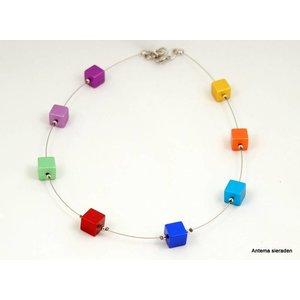 Mooi sieraden Blokjes ketting van MOOI sieraden