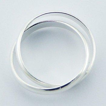 Dubbele zilveren ring