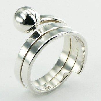 Trendy zilveren ring