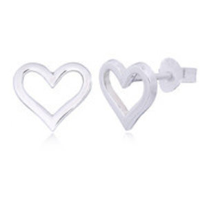 Zilveren hartvorm oorstekers