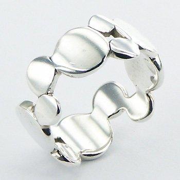 Zilveren ring retro