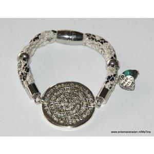 Ma Tina Moderne leren armband