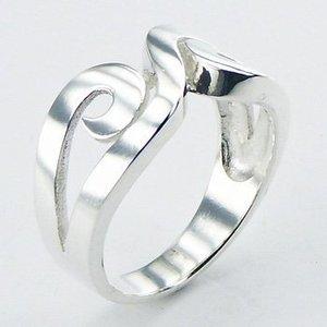 Zilveren opengewerkte ring