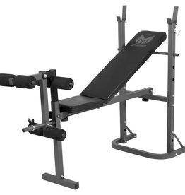 Gorilla Sports Gorilla Sports Halterbank met Leg Curl belastbaarheid 160 kg