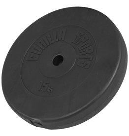 Gorilla Sports Set van 2 x 15 kg Halterschijf  Kunststof