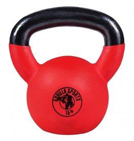 Gorilla Sports Kettlebell 16 kg Rubber Coating