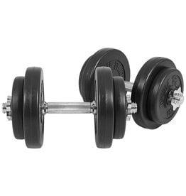 Gorilla Sports Dumbellset 20 kg (4x2,5 & 4x 1,25) Kunststof