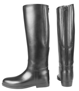 Red Horse Riding boots PVC Stretch