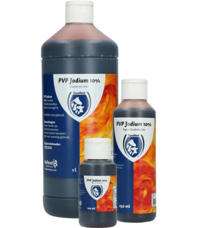 Excellent Horse Jodium oplossing 10% pvp (100 mg per ml) 250 ml