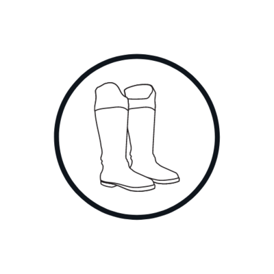 Laarzen, schoenen en chaps