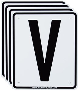 Harry's Horse Riding arena signs, V,S,R,P