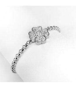 Ponytail & co Four-leaf clover bracelet with cz stones