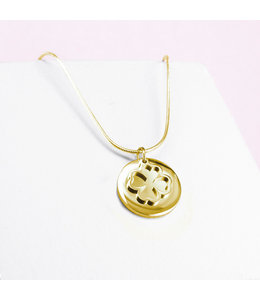 Ponytail & co Clover necklace with charm