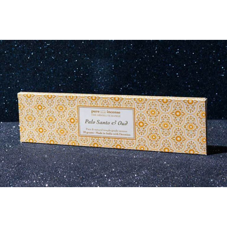 Pure Incense PALO SANTO AND OUD ABSOLUTE RANGE TEMPLE GRADE FROM PURE INCENSE 20G