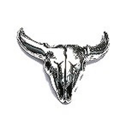 GOOD VIBRATIONS HORNED COW SKULL STUD EARRING GOOD VIBRATIONS