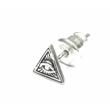 GOOD VIBRATIONS ALL SEEING EYE TRIANGLE STUD