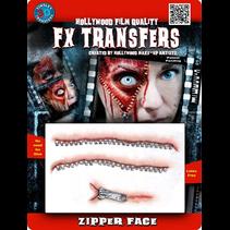 ZIPPER FACE 3D TATTOO