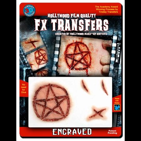 ENGRAVED PENTAGRAM 3D tattoo