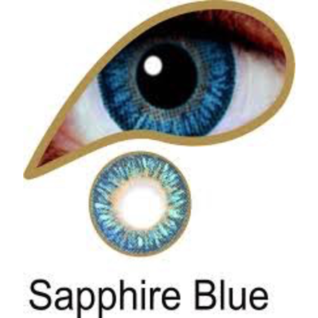 Mesmereyez SAPPHIRE BLUE ACCESSORIES 3 MONTH GREAT FOR BROWN EYES