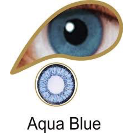 Mesmereyez AQUA BLUE ACCESSORIES 3 MONTH GREAT FOR BROWN EYES