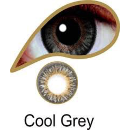 Mesmereyez COOL GREY ACCESSORIES 3 MONTH GREAT FOR BROWN EYES