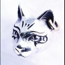EGYPTIAN CAT EARRING WITH  EAR PIERCING