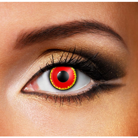Funky Cosmetic CRAZY - Red Vampire Eye accessories 3 MONTH