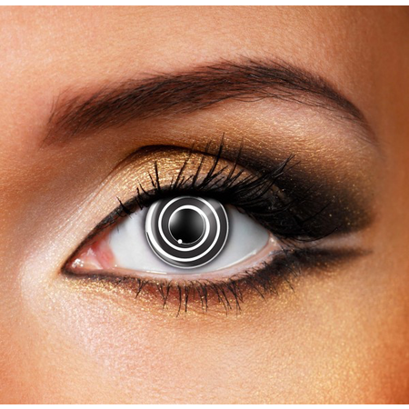 Funky Cosmetic CRAZY - Black spiral Eye accessories 3 MONTH