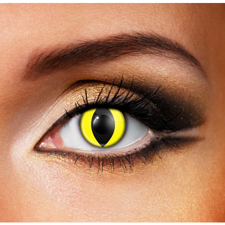 Funky Cosmetic CRAZY - Yellow Cat Eye accessories 3 MONTH